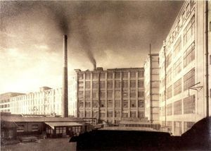 Philips fabriek, foto Eilers, 1927.